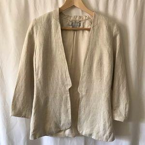 Jackets & Blazers - Linen tailored blazer